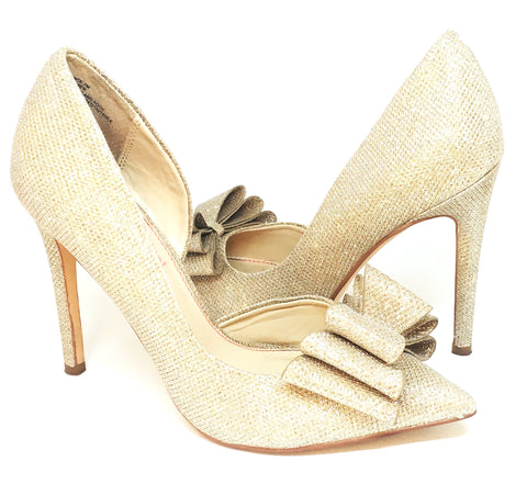 Betsey Johsnon Prince d'Orsay Glitter Bow Pumps | Gently Used |