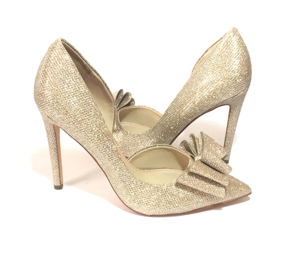 Betsey Johnson Prince D'Orsay Glitter Bow Pumps | Gently Used | - Secret Stash