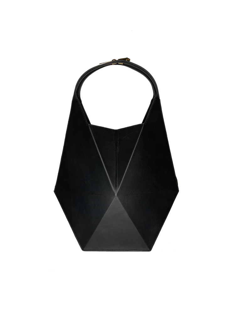 Warp Black Leather Hobo Bag | Sample |