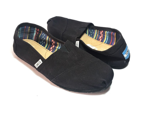 TOMS Black Canvas Women's Classic Shoes| Pre Loved |