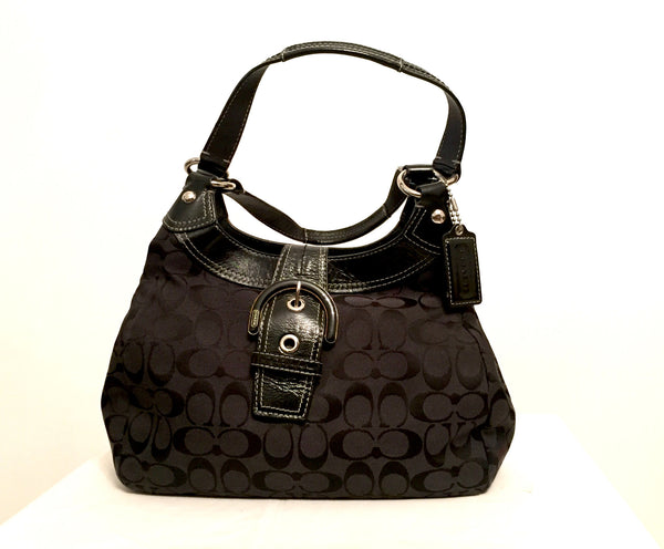 Coach Black Signature Collection Shoulder Bag | Gently Used | - Secret Stash