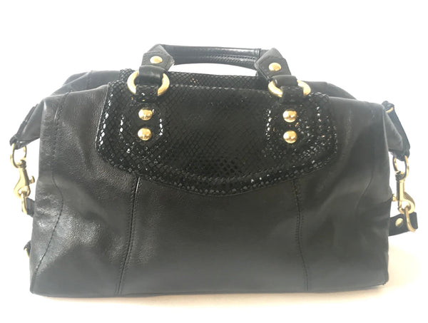Coach Black Leather Tote Bag | Gently Used |