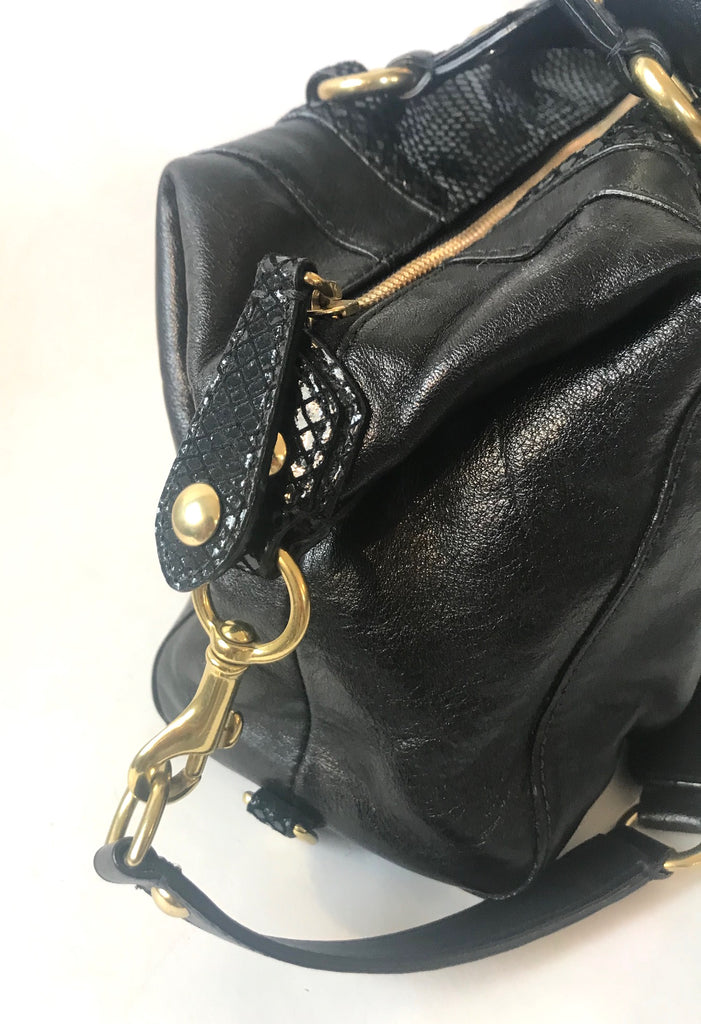 Coach Black Leather Tote Bag | Gently Used | - Secret Stash