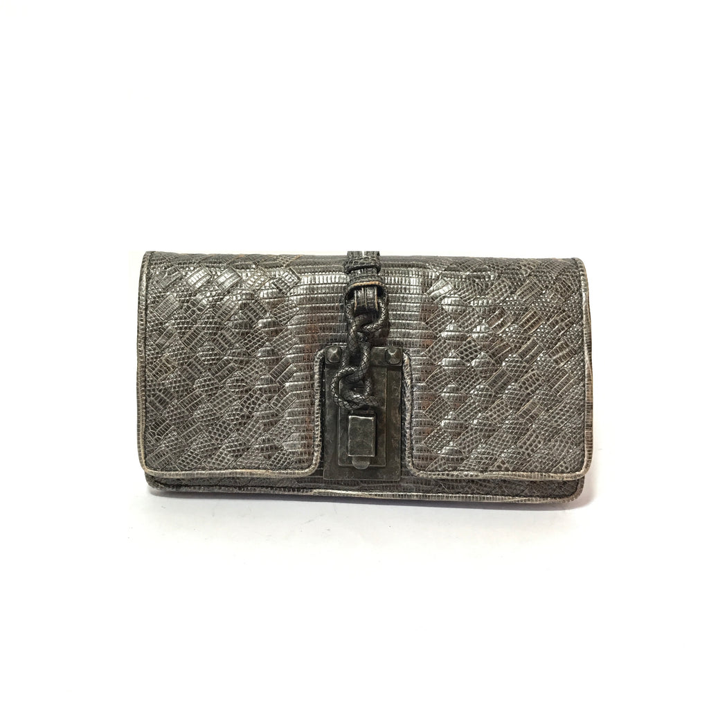 Bottega Veneta Exotic Skin Limited Edition Clutch | Gently Used |