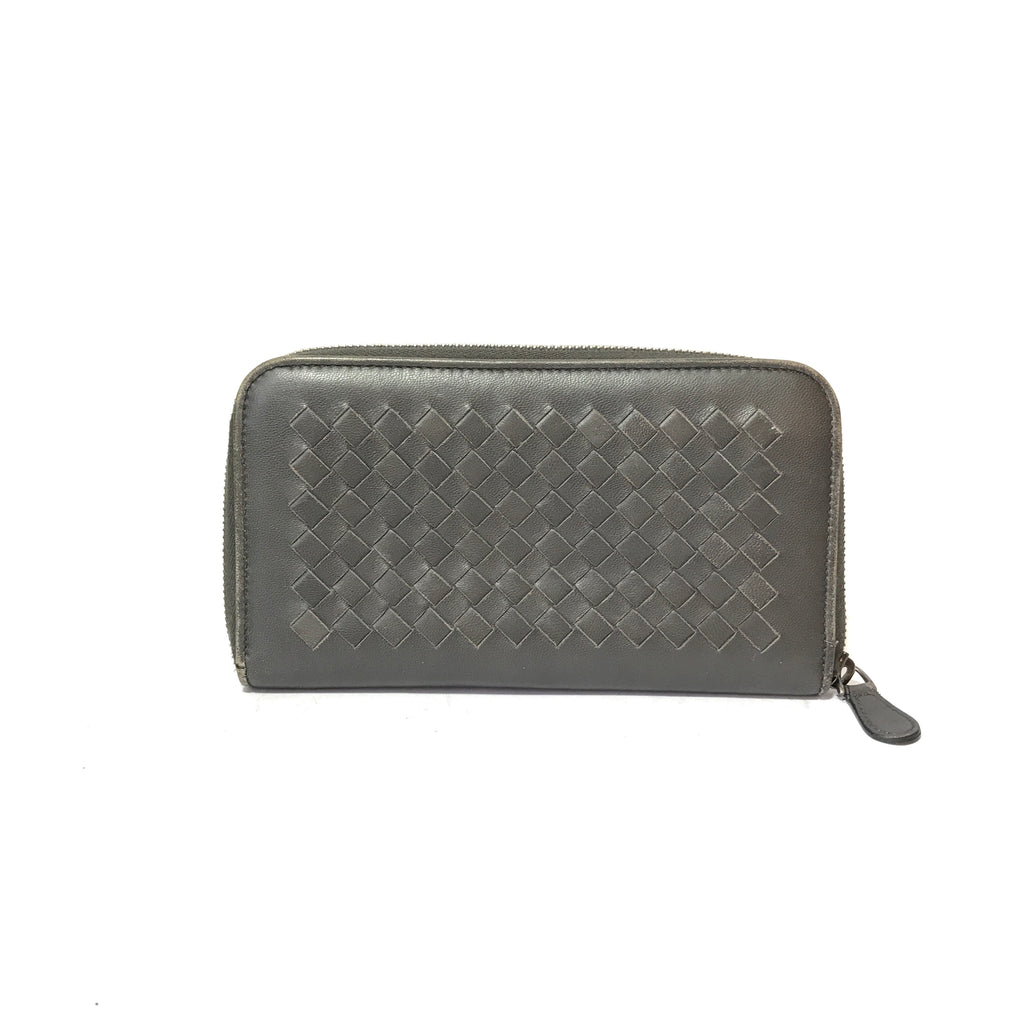 Bottega Veneta Intrecciato Leather Long Ziparound Wallet | Pre Loved |
