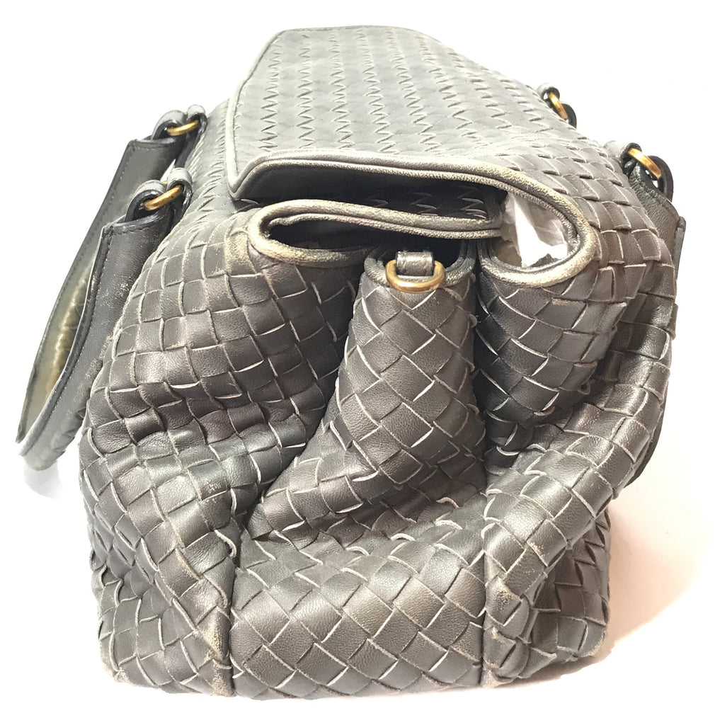 Bottega Veneta Intrecciato Nappa Top Flap Satchel | Pre Loved |