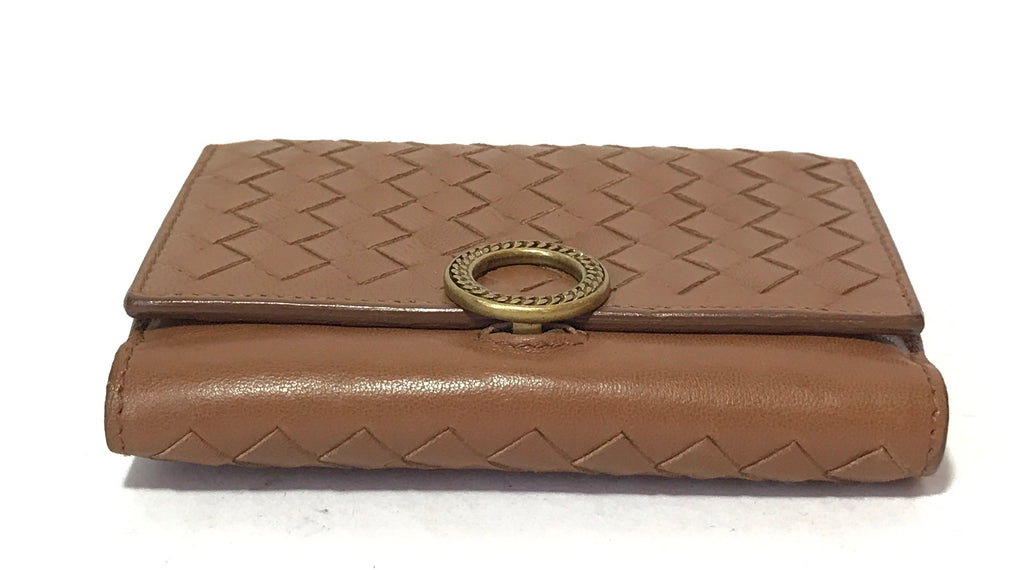 Bottega Veneta Tan Intrecciato Leather Bifold Wallet | Gently Used |