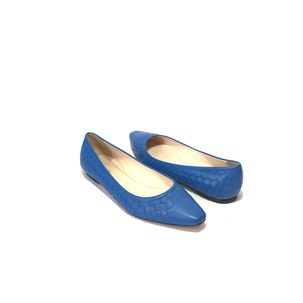 Bottega Veneta Cobalt Blue Leather Pumps | Gently Used |