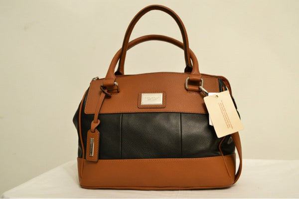 Tignanello Brown & Black Leather Bag | Brand New | - Secret Stash