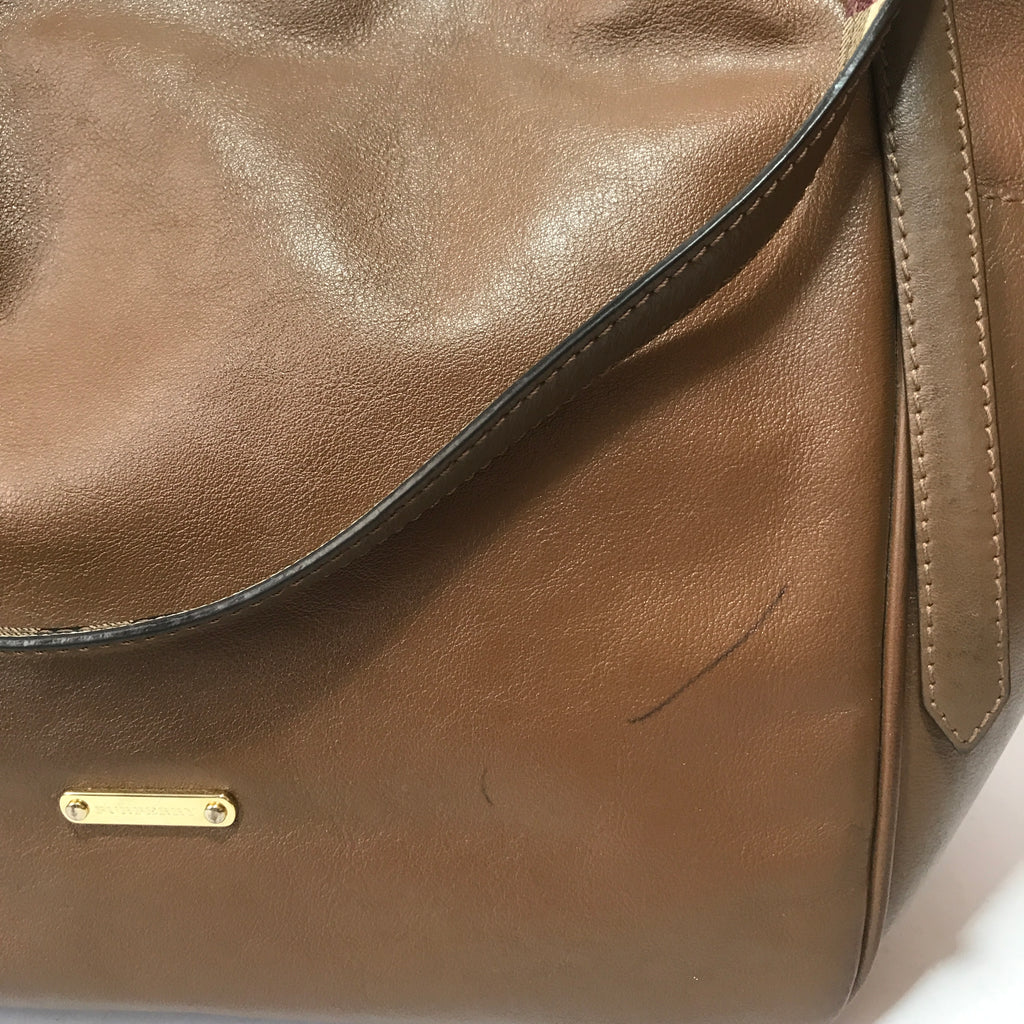 Burberry Tan Leather Tote | Pre Loved |