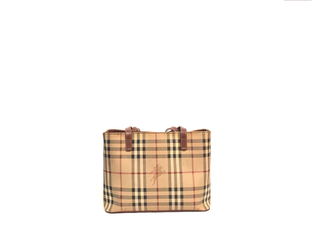 Burberry 'Haymarket' Check Small Tote | Gently Used | - Secret Stash