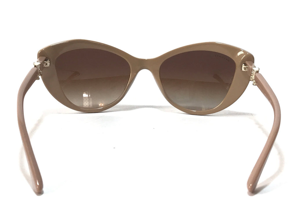BVLGARI 8168-B Cat Eye Beige Sunglasses | Like New | - Secret Stash