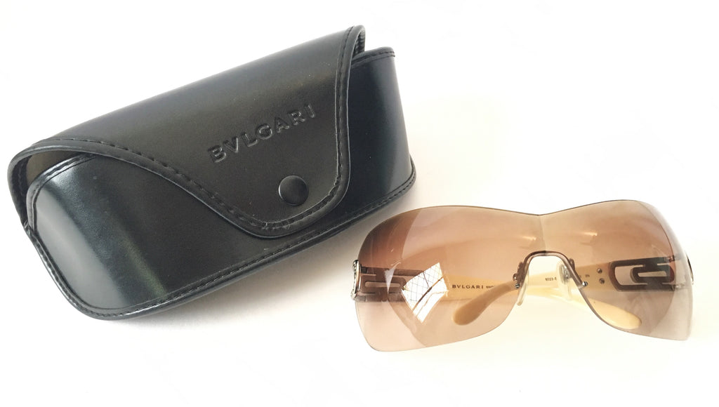 BVLGARI 6023-B Wraparound Visor Sunglasses | Pre Loved | - Secret Stash