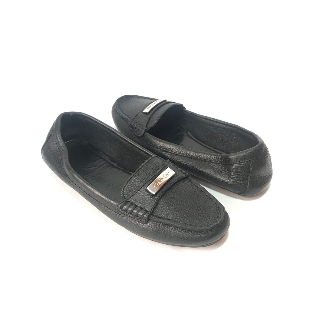 Calvin Klein Black Leather Loafers | Pre Loved |