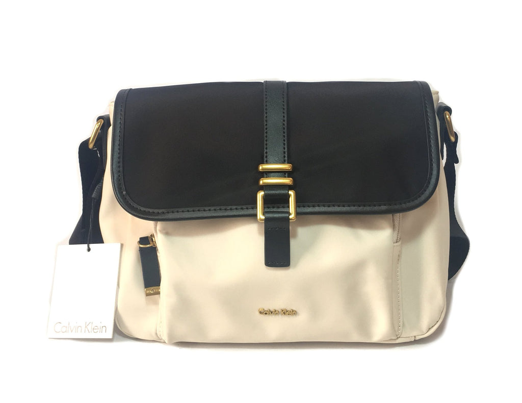 Calvin Klein Black & White Cross Body Satchel | Brand New | - Secret Stash
