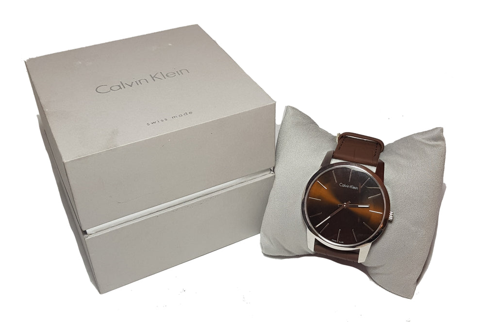 Calvin Klein Men's Leather Wrist Watch | Like New |