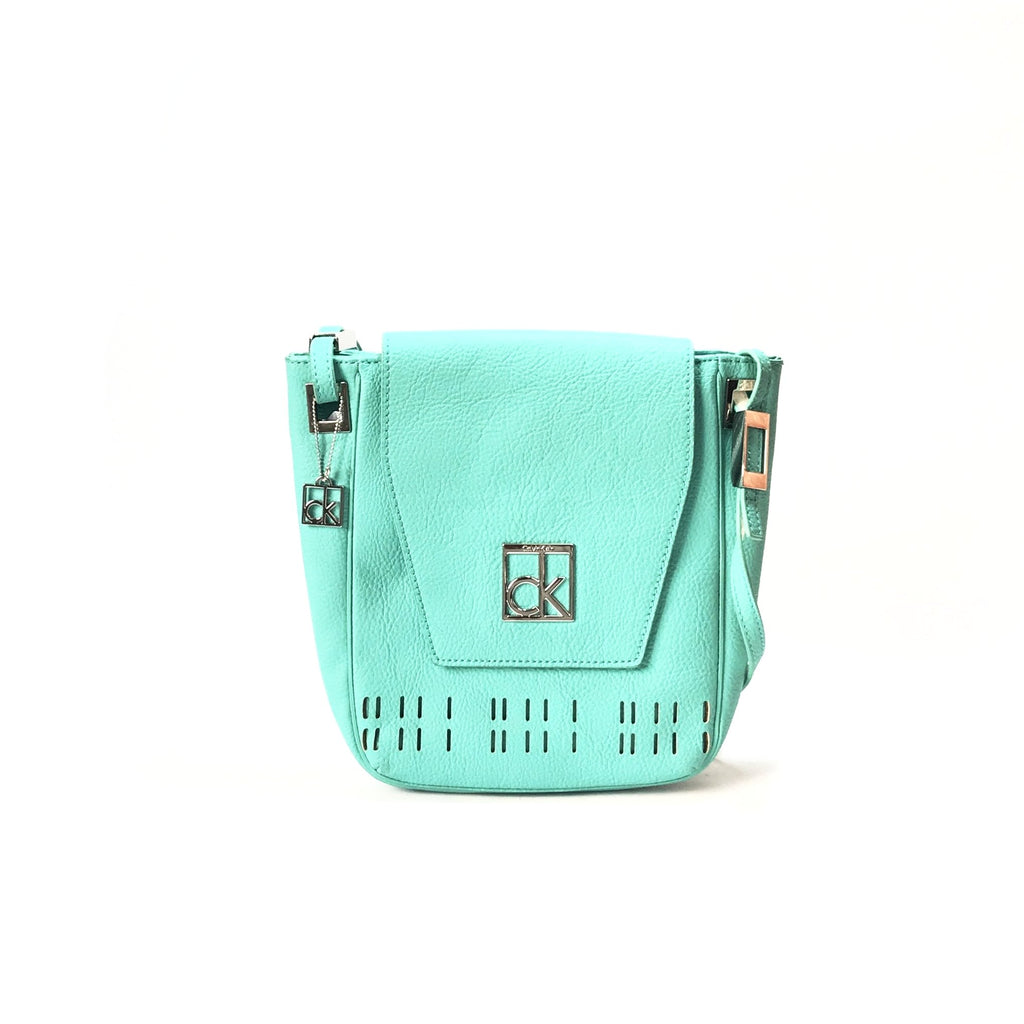 Calvin Klein Teal Cross Body Leather Bag | Like New |