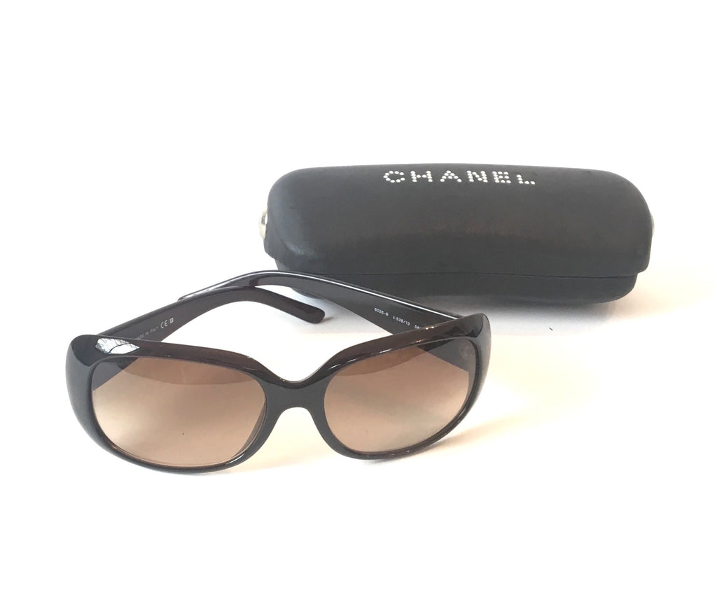 Chanel 6026B Crystal Sunglasses | Pre Loved |