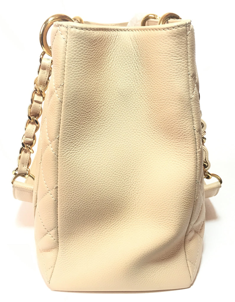 Chanel Beige Grand Shopping Tote | Gently Used | - Secret Stash