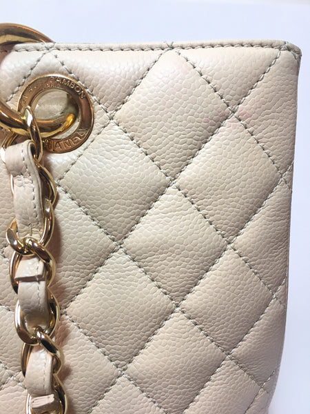 Chanel Beige Grand Shopping Tote | Gently Used |