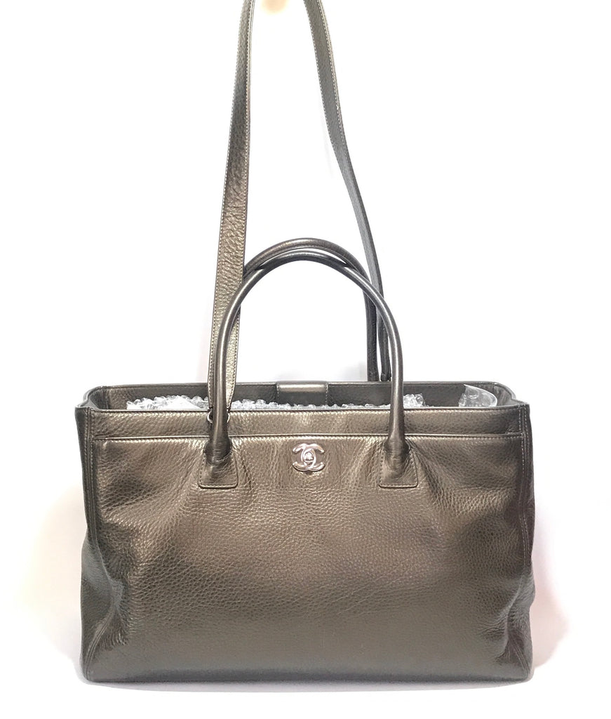Chanel Gunmetal 'Executive Cerf' Leather Tote | Pre Loved | - Secret Stash