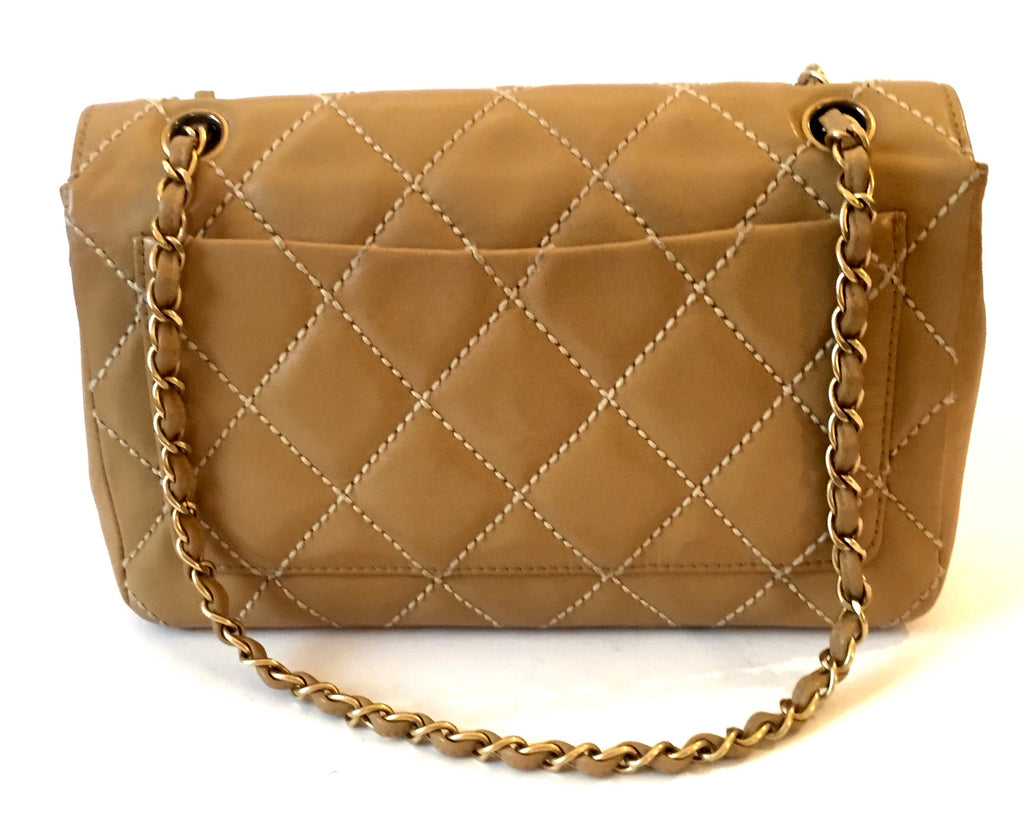 Chanel Vintage Medium Leather Quilted Classic Flap Bag | Pre Loved | - Secret Stash