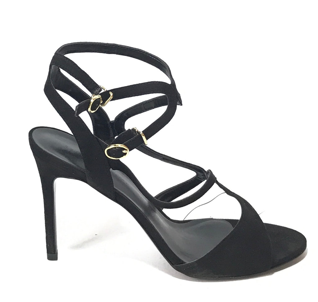 Charles & Keith Black & Clear Strappy Heels | Gently Used | - Secret Stash