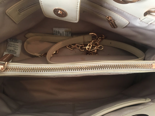 Charles & Keith Nude Blush Pink Leather Tote Bag | Gently Used |