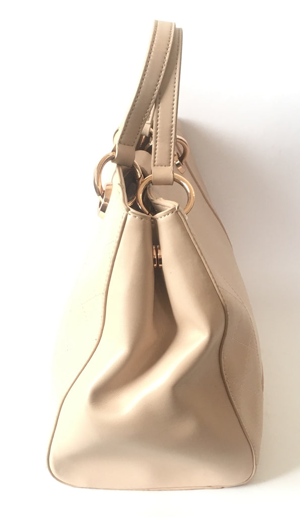 Charles & Keith Nude Blush Pink Leather Tote Bag | Gently Used | - Secret Stash