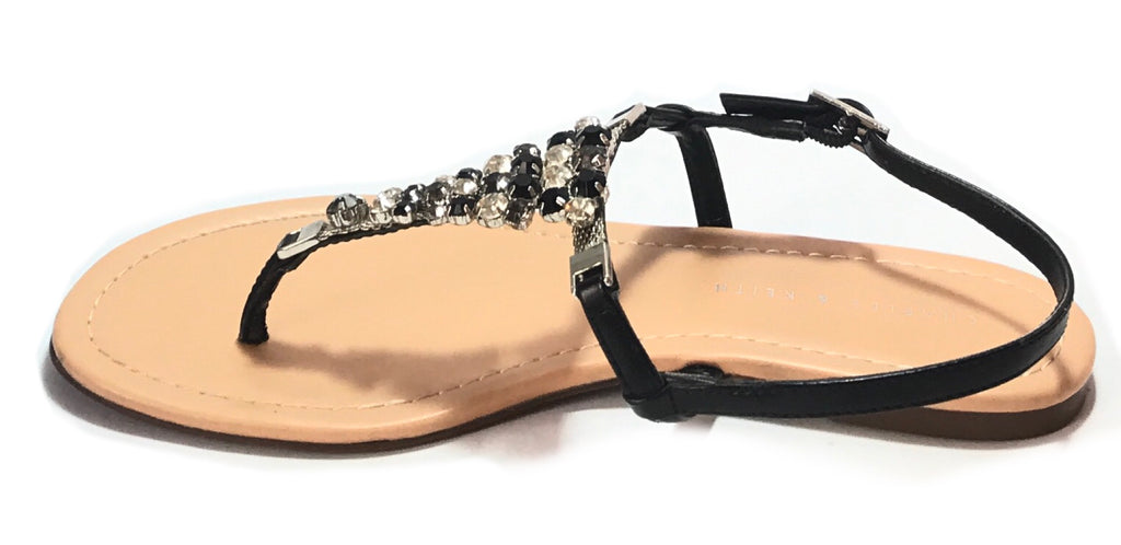 Charles & Keith Black Rhinestone Flats | Like New | - Secret Stash
