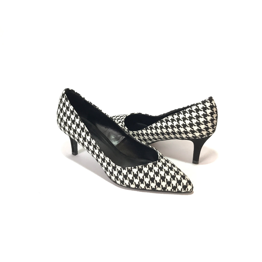 Charles & Keith Black & White Houndstooth Pumps | Brand New |