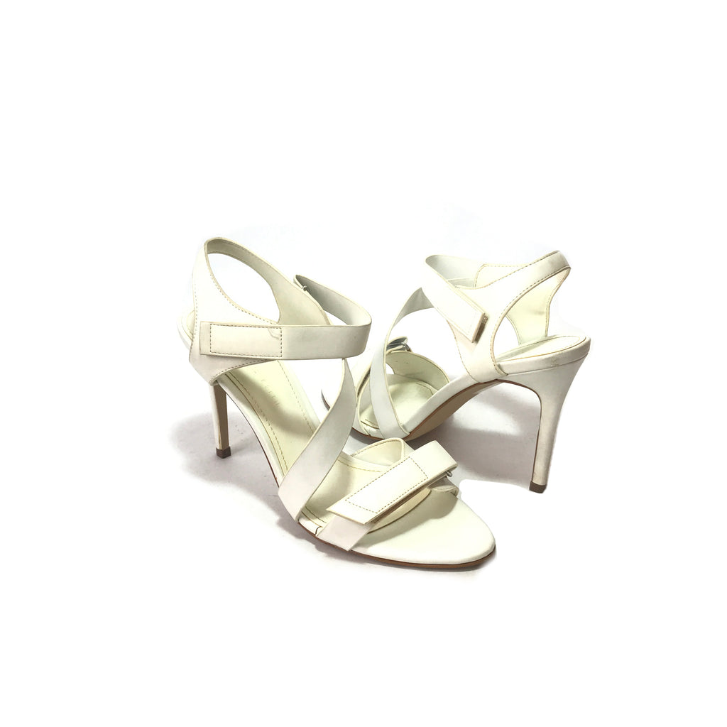 Charles & Keith White Multi Strap Heels | Pre Loved |