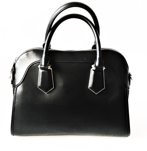 Charles & Keith Black Leather Tote | Gently Used |