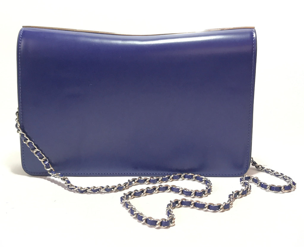Charles & Keith Cobalt Blue Leather Clutch | Gently Used |