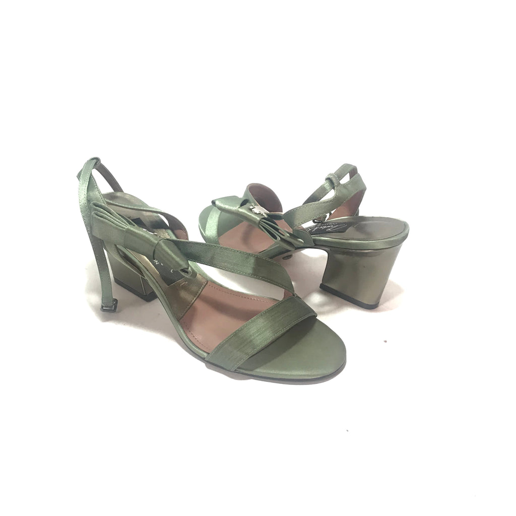Charles & Keith Mint Green Satin Heels | Gently Used |
