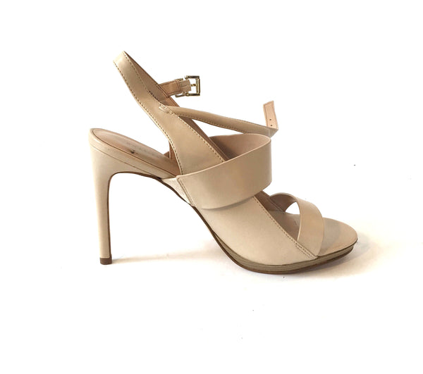 Charles & Keith Beige Strappy Heels | Like New |