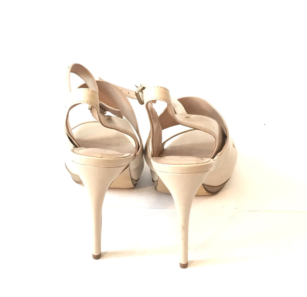 Charles & Keith Beige Strappy Heels | Like New | - Secret Stash