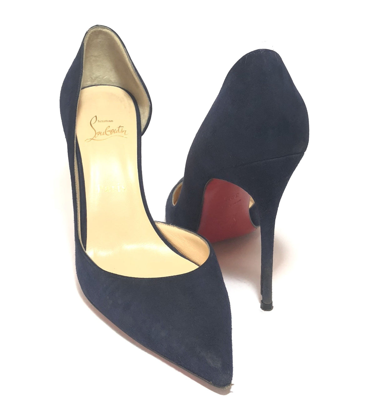 new style 84169 af1cf Christian Louboutin Navy Blue Suede Pumps | Pre Loved