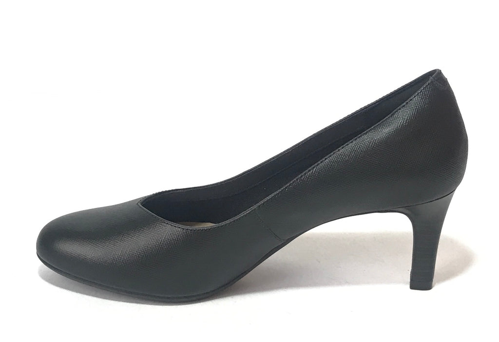 Clarks 'Dancer Nolin' Black Leather Pumps | Brand New | - Secret Stash