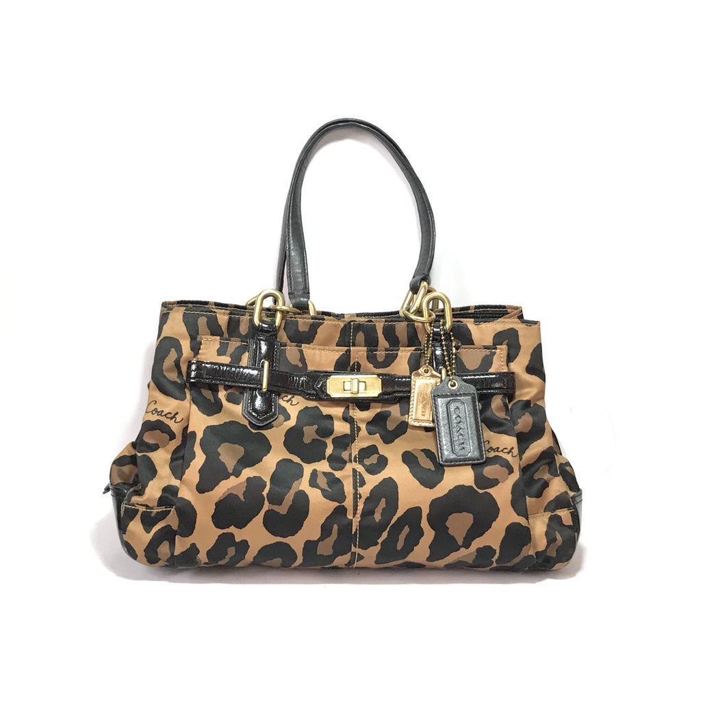 Coach Animal Print   Leather Shoulder Bag  a50163bd471fb