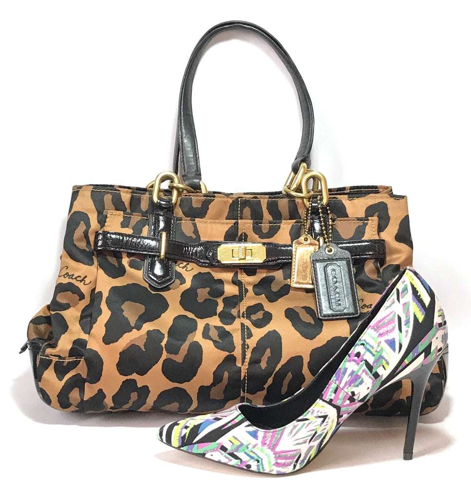 Coach Animal Print & Leather Shoulder Bag | Gently Used | - Secret Stash