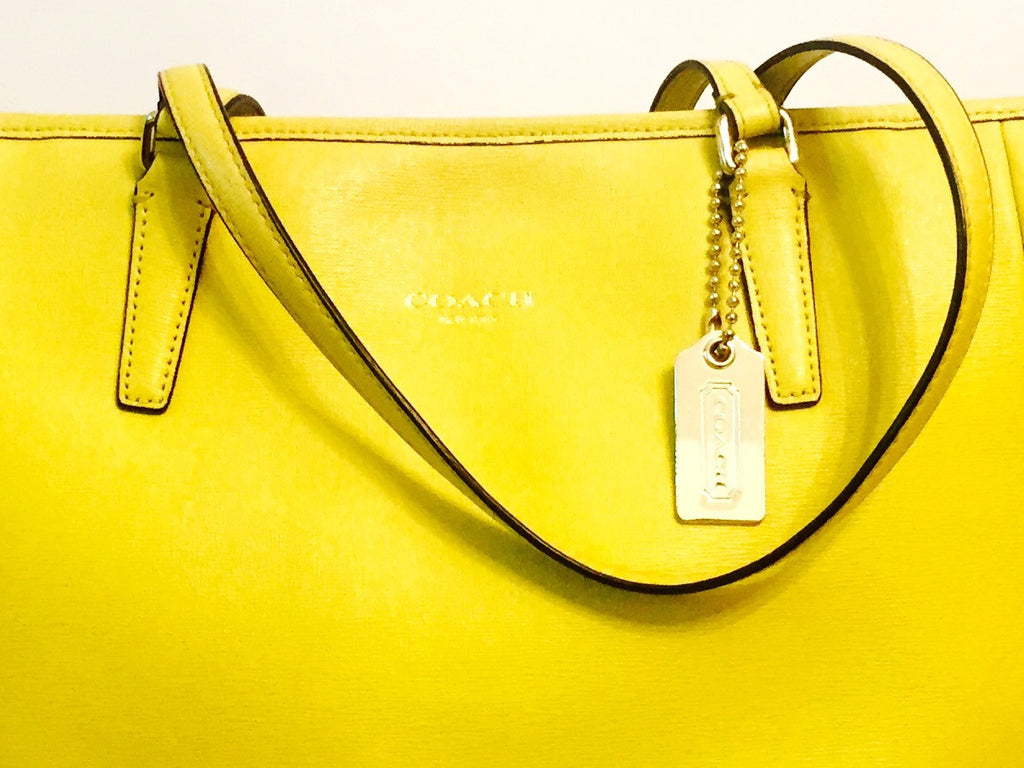 Coach Lime Green Tote Bag | Gently Used | - Secret Stash