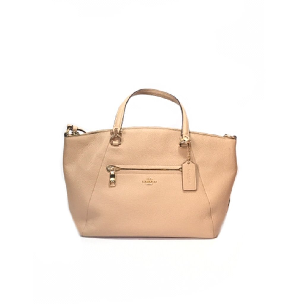 Coach Light Beige Pebbled Leather Satchel | Gently Used | - Secret Stash