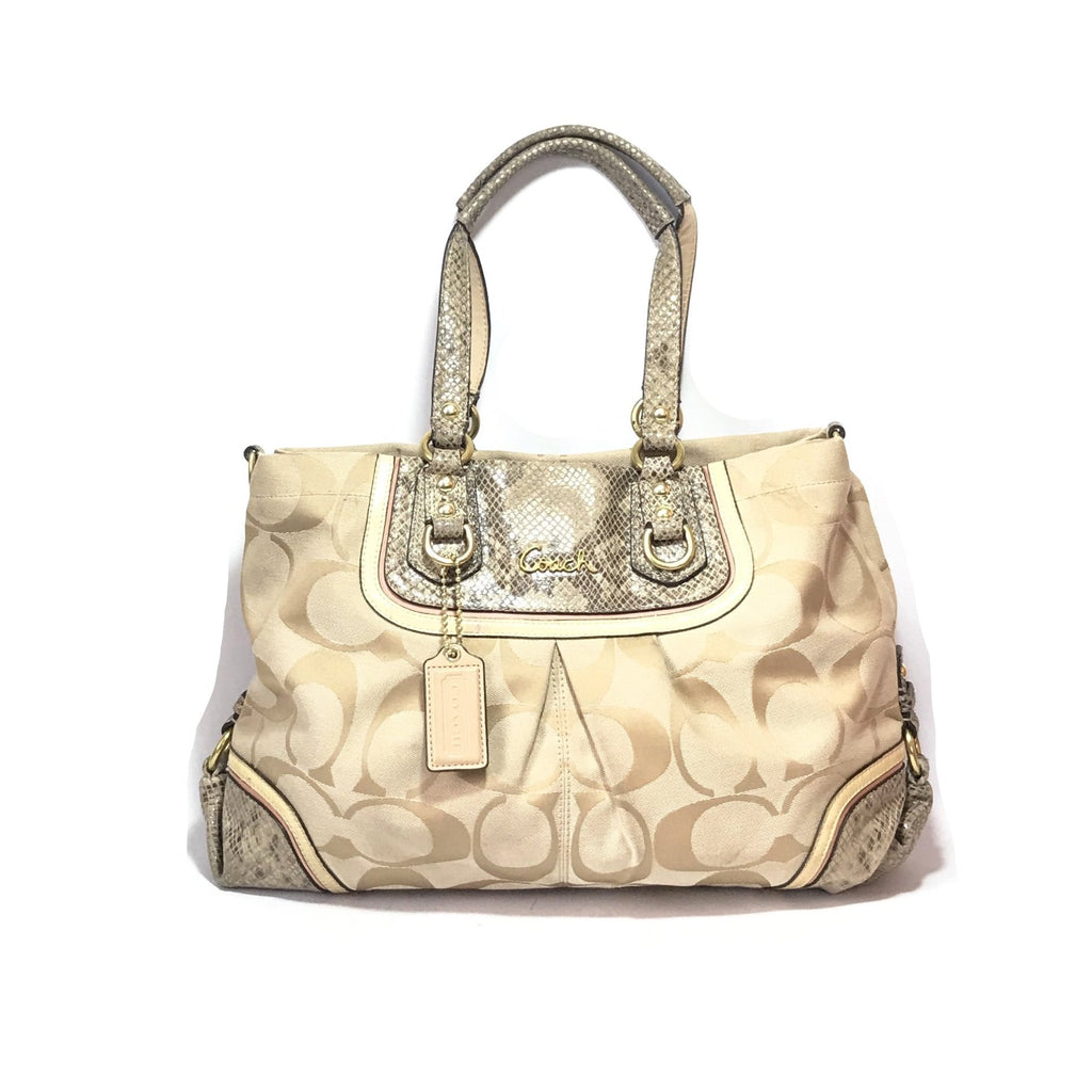 Coach Beige Monogram Shoulder Bag | Pre loved | - Secret Stash