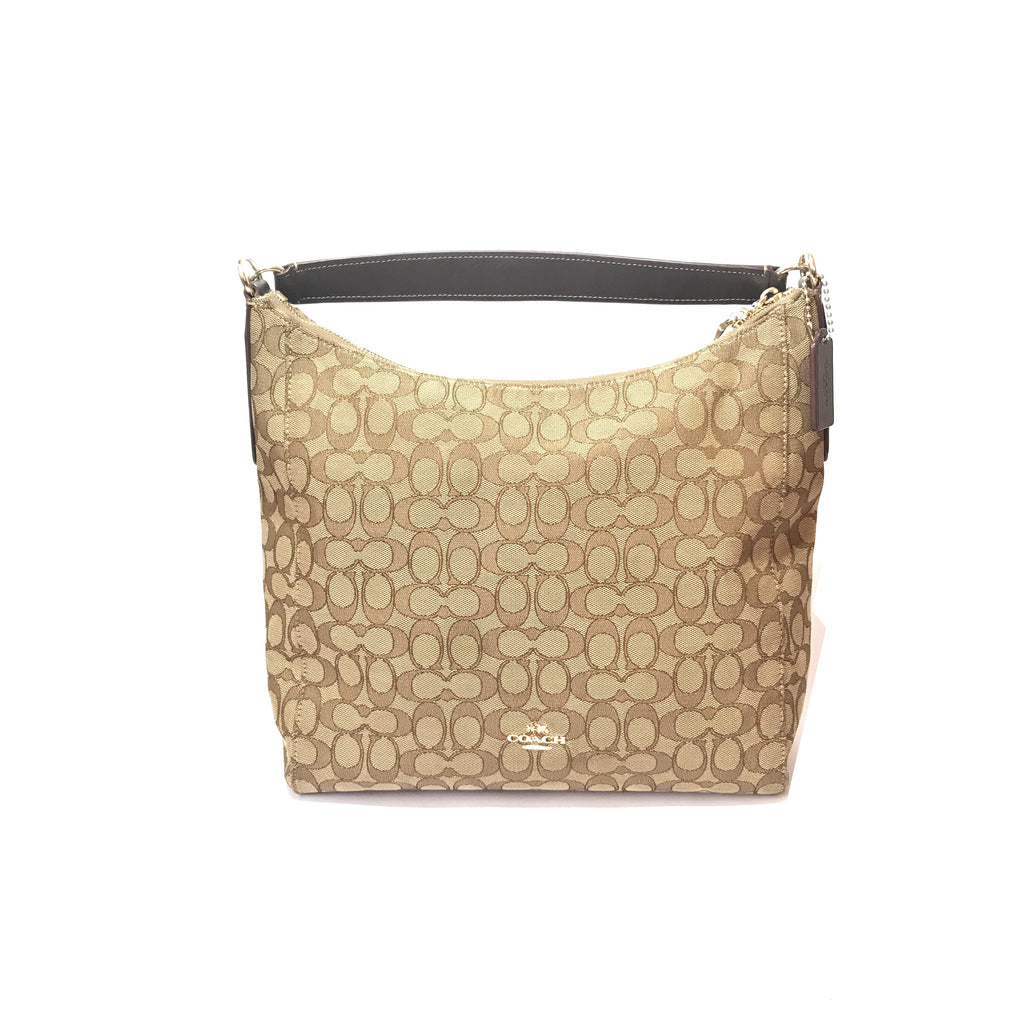 Coach Beige Monogram Canvas Hobo Tote | Gently Used |