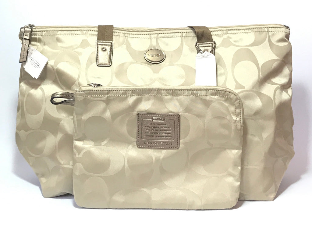 Coach Monogram 'Gty Sig NY' Weekender Nylon Shoulder Bag  | Brand New |