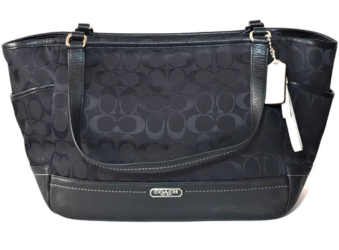 Coach Black Monogramed Signature Collection Shoulder Bag | Brand New |