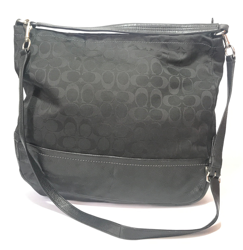 Coach Monogram Canvas & Leather Shoulder Bag | Pre Loved |