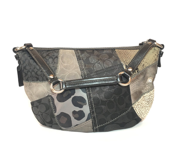 Coach Black Patchwork/ Multi Pattern Shoulder Bag | Pre Loved |