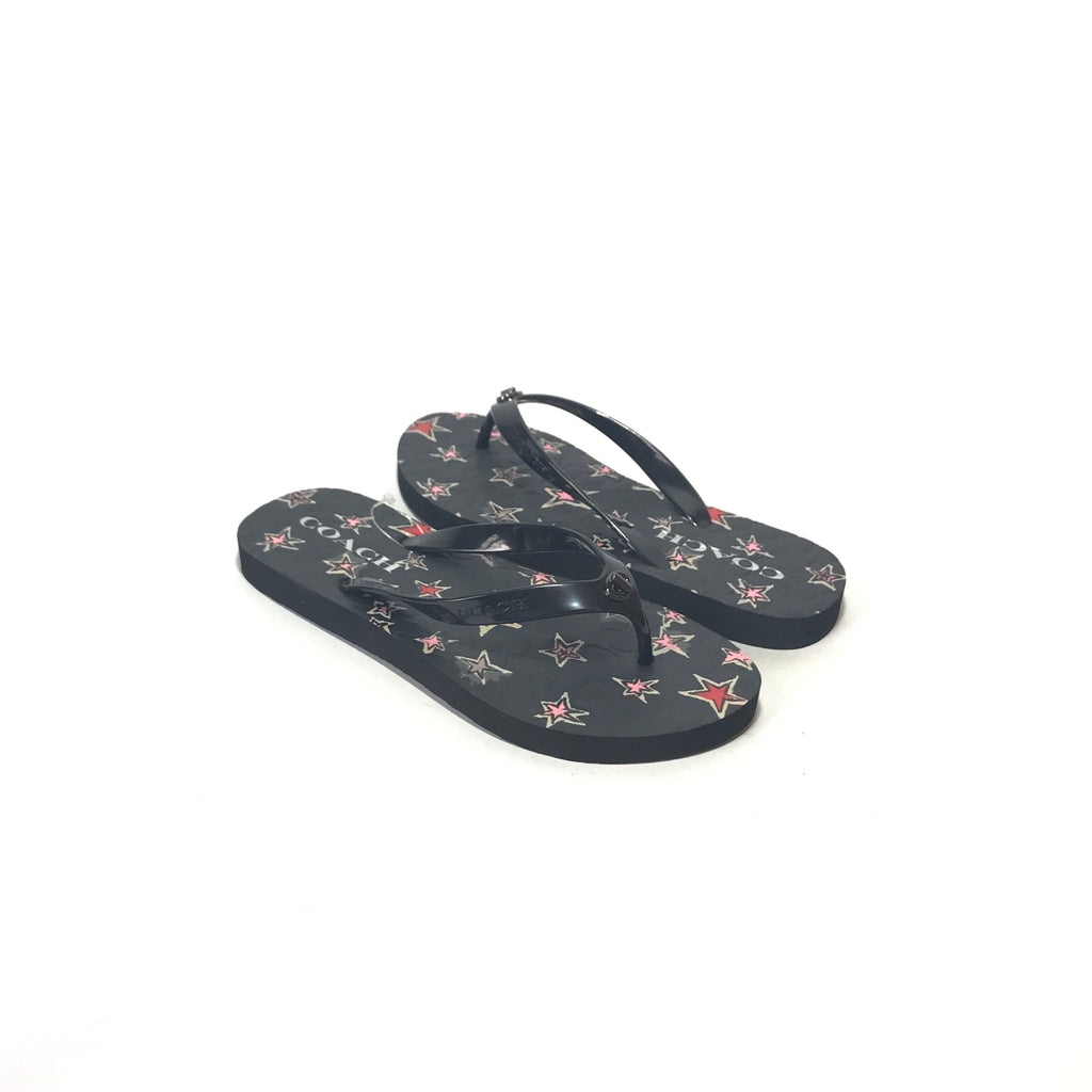 Coach Black Rubber Flip Flop Sandals | Brand New |